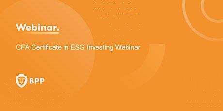 CFA Certificate in ESG Investing Webinar tickets