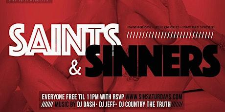 Sin Saturdays  Miami tickets