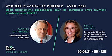 Webinar d'actualité durable · Avril 2021 billets