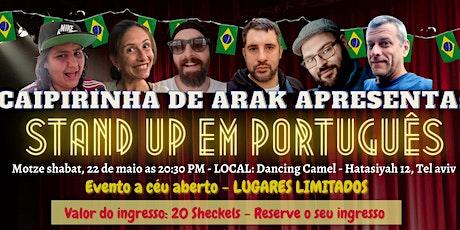 Stand Up em português - LUGARES LIMITADOS! entradas