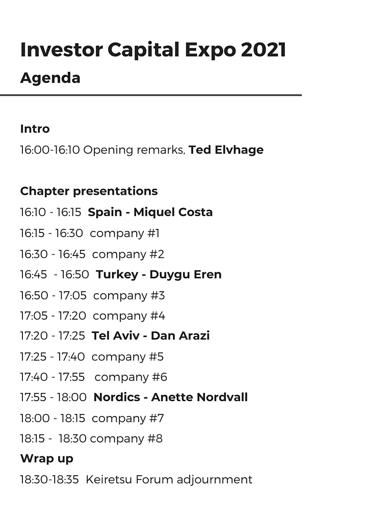 Investor Capital Expo Europe 2021 image