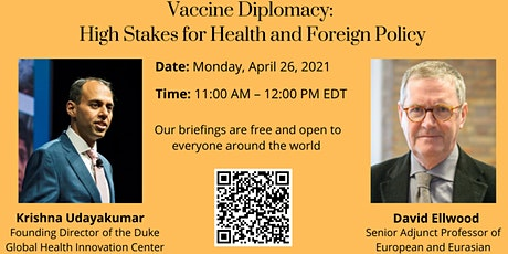 Vaccine Diplomacy: High Stakes for Health and Foreign Policy tickets