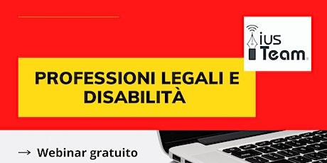 Professioni Legali e Disabilità biglietti