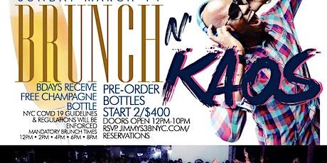 Brunch N Kaos,  Sunday 2hr Open Bar Brunch, Bdays FREE Champagne Bottle tickets
