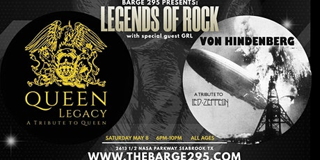 Queen + Led Zeppelin Tributes - Queen Legacy + Von Hindenberg at BARge295 tickets