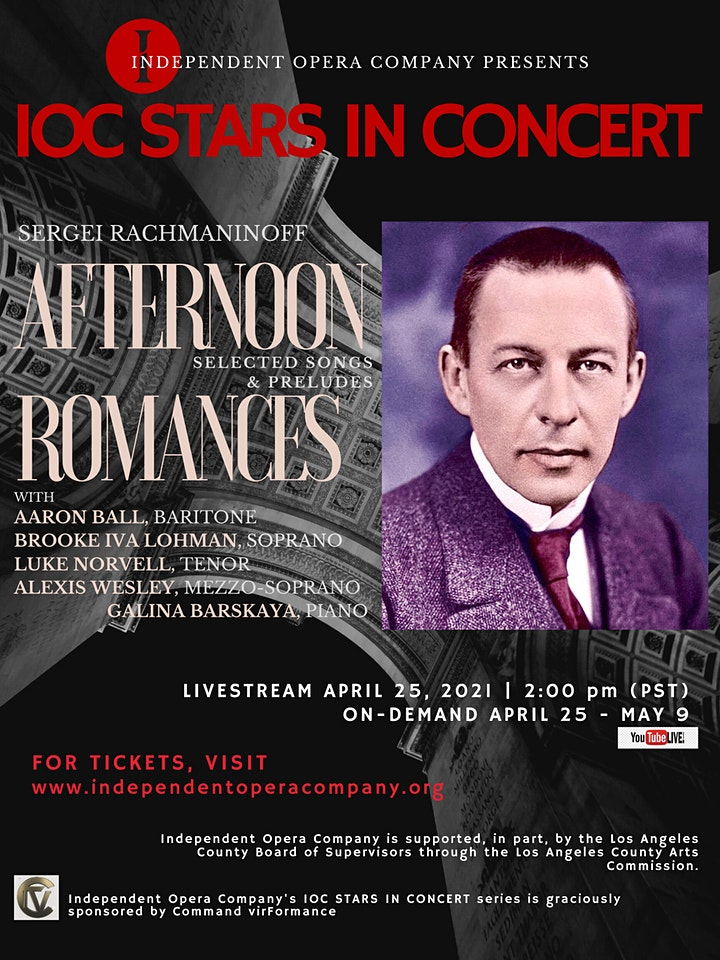 IOC Stars in Concert: Afternoon Romances - Songs & Preludes by Rachmaninoff image