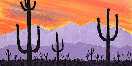 Virtual Paint & Sip - Cinco de Mayo Saguaro Sunset tickets
