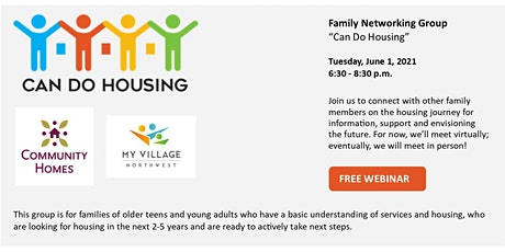 Family Networking Group - Can Do Housing 6/1/2021 tickets