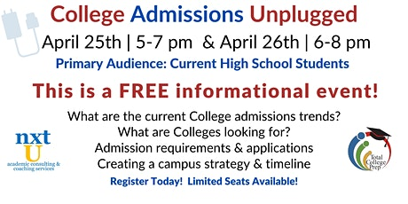 College Admissions Unplugged tickets