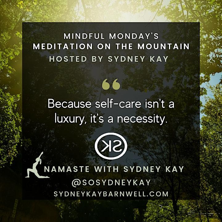 Meditation on the Mountain   Namaste with Sydney Kay image