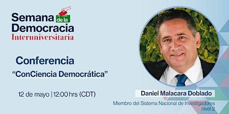 Conferencia: ConCiencia Democrática entradas