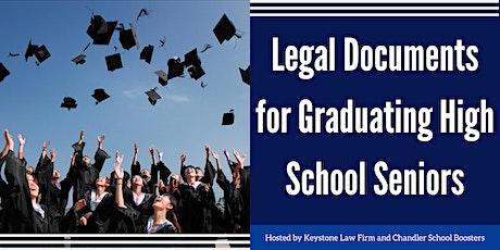 Legal Documents for Graduating High School Seniors - Online Webinar tickets