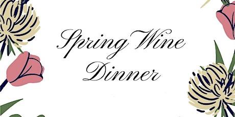 Spring Wine Dinner with Chef Regan Stachler tickets
