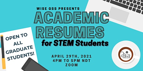 Academic Resumes for STEM Students Workshop tickets