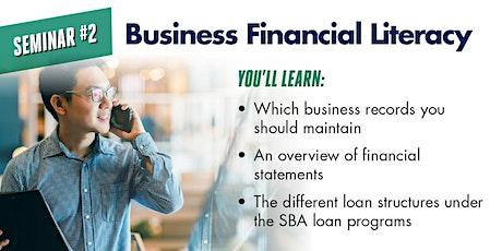 Business Financial Literacy - Seminar 2 tickets