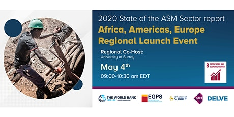 2020 State of ASM Sector Report Launch (Africa, Americas, Europe) tickets