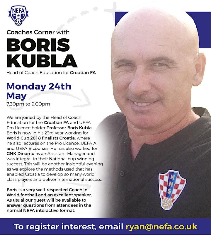 NEFA Coaches Corner: Boris Kubla image
