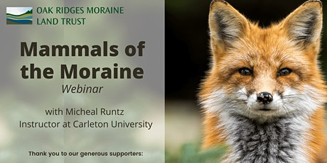 Mammals of the Moraine tickets