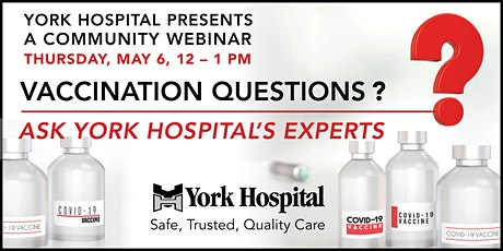 Vaccination Questions? Ask York Hospital's Experts tickets