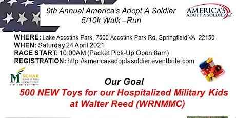 9th Annual America's Adopt A Soldier 5K/10K Fun Walk/Run tickets