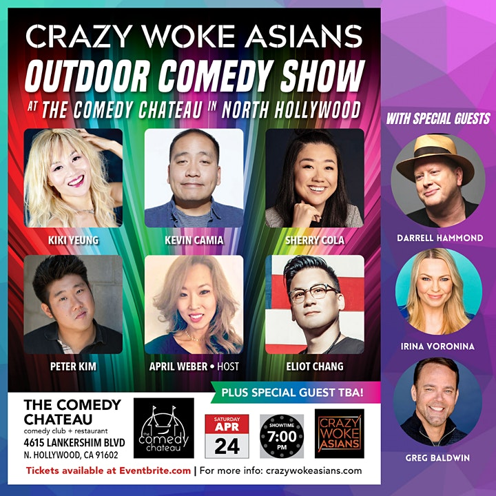 CRAZY WOKE ASIANS OUTDOOR COMEDY SHOW AT THE COMEDY CHATEAU! image