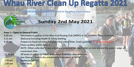 Whau River Clean Up Regatta 2021 tickets