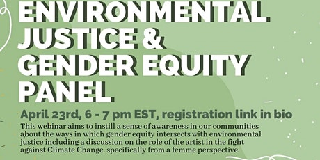 Environmental Justice and Gender Equity Panel tickets