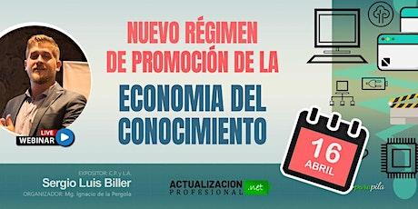 """Grabación """"NUEVO RÉGIMEN DE PROMOCIÓN DE LA ECON DEL CONOCIMIENTO"""" entradas"""