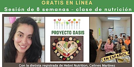 Hebni  - Project Oasi - Clase de Nutrición en Linea Gratis entradas