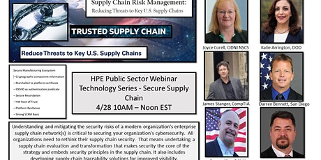 HPE Public Sector Technology Series Webinar - Secure Supply Chain tickets
