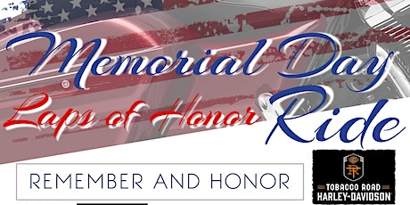 "Memorial Day ""Laps of Honor"" Ride tickets"