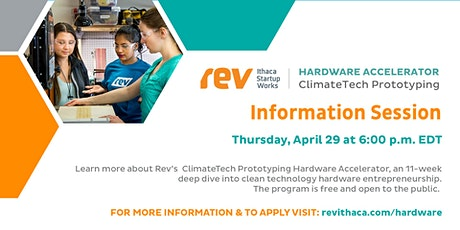 ClimateTech Prototyping Hardware Accelerator Information Session tickets