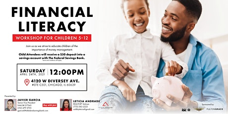 Financial Literacy Workshop for Children ages 5 to 12 tickets