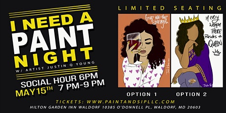 I NEED A PAINT NIGHT tickets