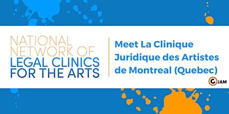 National Network Forum: Meet Clinique juridique des artistes de Montréal tickets