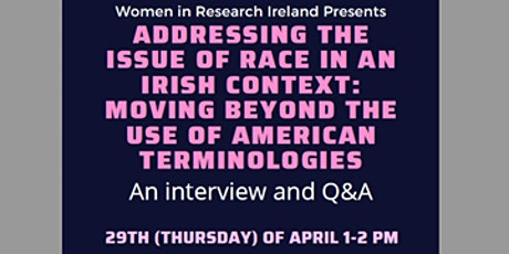 Addressing the issue of race in an Irish context tickets