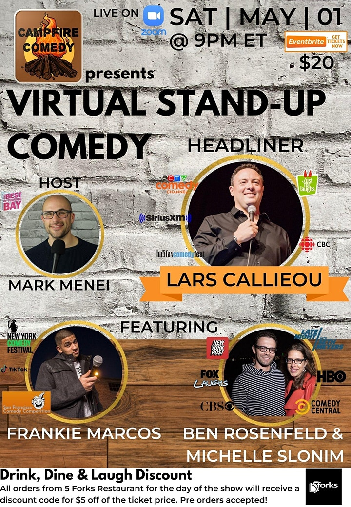 Campfire Comedy presents Virtual Stand-Up Comedy Starring Lars Callieou image