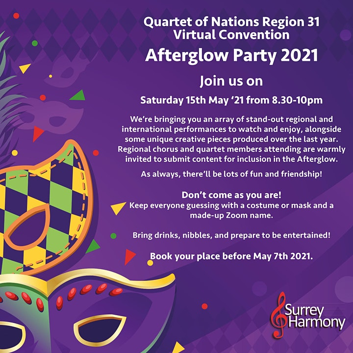 SAI Quartet of Nations R31 Virtual Convention Afterglow with Surrey Harmony image