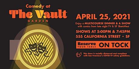 Standup Comedy at The Vault Garden (Multicourse Dinner & Show!) tickets