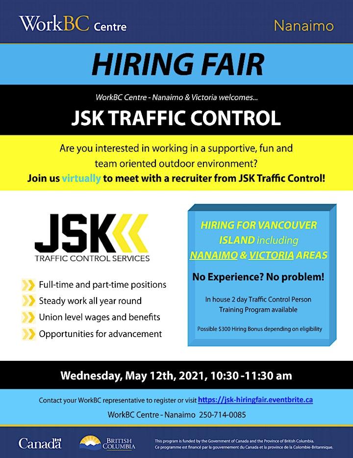 JSK Traffic Control Services - Hiring Fair (Vancouver Island) image