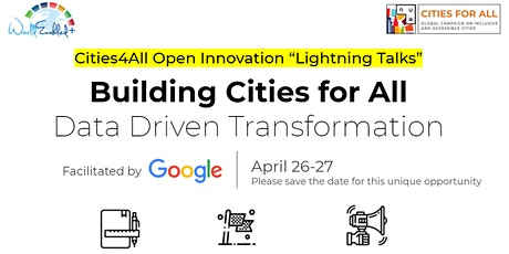 "Cities for All ""Lightning Talks"" on Inclusive Urban Innovation tickets"