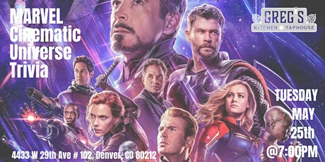 Marvel Cinematic Universe Trivia at Greg's Kitchen and Taphouse tickets