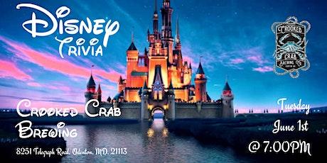 Disney Movie Trivia at Crooked Crab Brewing tickets