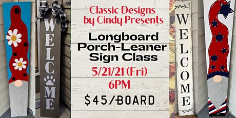 Creative Longboard Porch Sign Class tickets