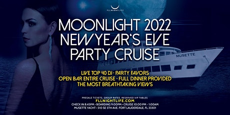 2022 Fort Lauderdale New Year's Eve Party - Pier Pressure Moonlight Cruise tickets