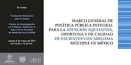 Presentación Foro Marco de Política Pública para Mieloma Múltiple entradas