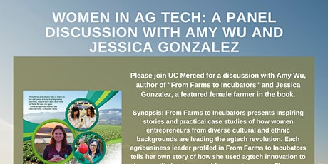 Women in Ag Tech: A Panel Discussion with Amy Wu and Jessica Gonzalez tickets