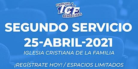 Servicio ICF - 25 de abril de 2021 - Segundo Servicio - 11AM entradas