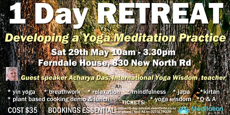 1 Day RETREAT - Develop a Yoga Meditation Practice tickets