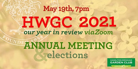 Annual Meeting, Club Elections and traditional Plant Swap tickets